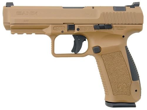 "Canik TP9SA Mod.2 9mm, 4.46"" Barrel, Desert Tan, 18rd Mag"