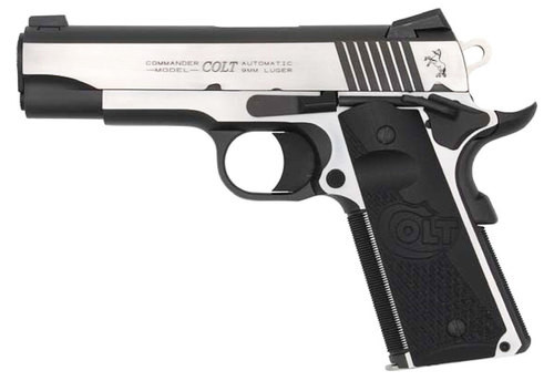 "Colt Combat Elite Commander 45 ACP, 4.25"" Barrel, Night Sights, TT 8rd Mag"