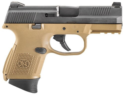 FN FNS9C 9mm NMS, Flat Dark Earth and Black LE, 12rd and 17rd