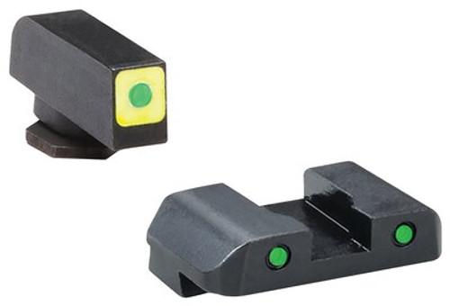 AmeriGlo Cap LE Tritium Sight Set Glock 17/19 Green/Green