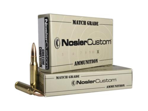 Nosler Trophy Grade Match .308 Winchester 155gr, Custom Competition 20rd Box