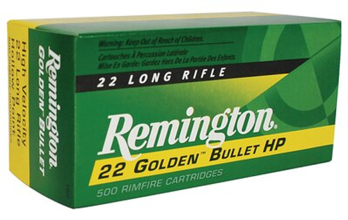 Remington Golden 22 LR 36gr, Plated Hollow Point, 500/Brick