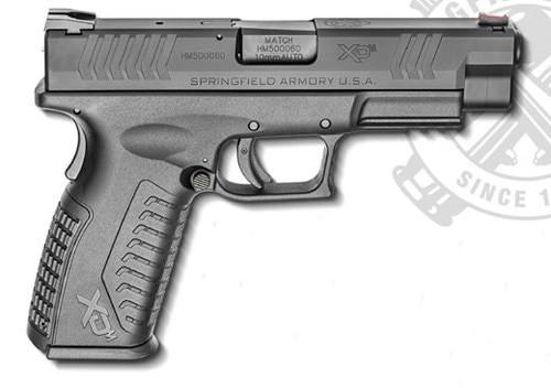 """Springfield XDM 10mm, 4.5"""" Barrel, Fiber Optic Front, Combat Rear Sights, 2x15rd Mags"""