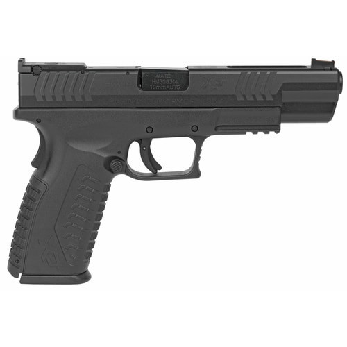 "Springfield XDM 10MM, 5.25"" Barrel, Fiber Optic Front and Adjustable Rear Sights, 3x15rd Mags"