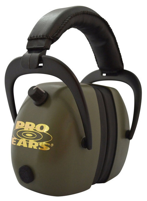 Pro Ears Gold II Electronic Earmuff, NRR30, Green
