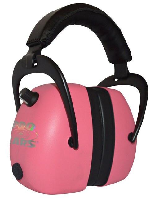 Pro Ears Gold II Electronic Earmuff, NRR30, Pink