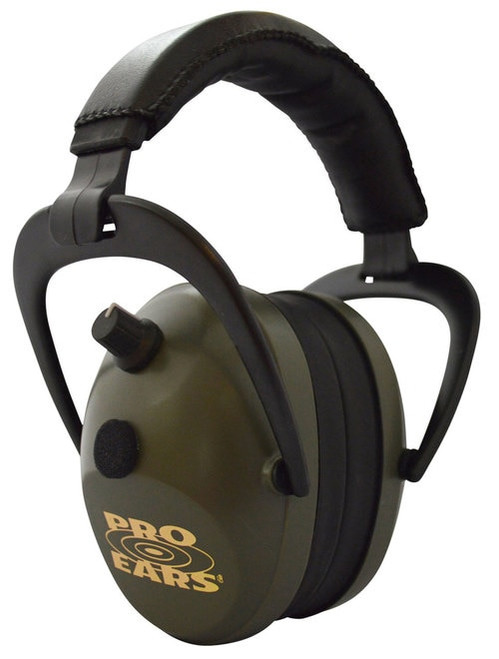 Pro Ears Gold II Electronic Earmuff, NRR26, Green