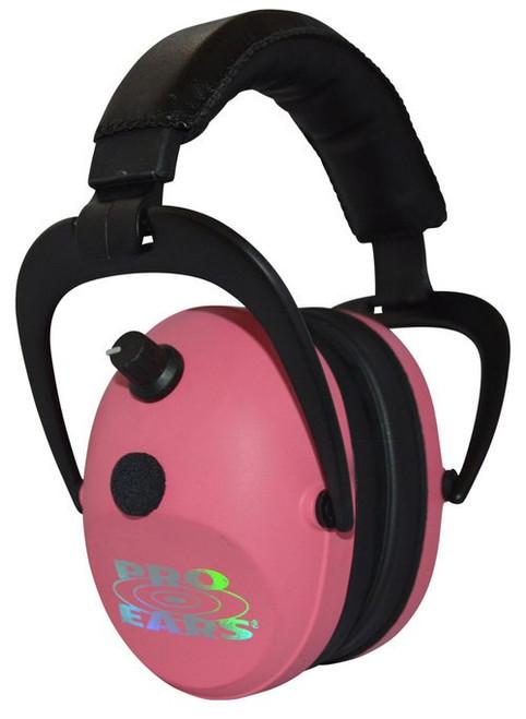 Pro Ears Gold II Electronic Earmuff, NRR26, Pink