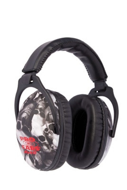 Pro Ears ReVo Earmuff, Youth, NRR26, Skulls