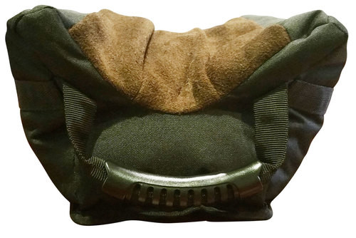 BenchMaster American Bison Gun Rest, Leather, Front Bag, XL, Unfilled