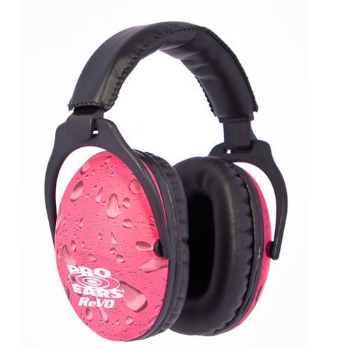 Pro Ears ReVo Earmuff, NRR26, Pink Rain