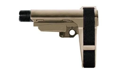 SB Tactical AR Pistol Brace, 4 Position, 6 Position Extention, Flat Dark Earth