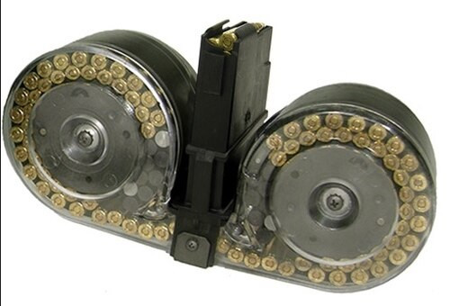 Beta C-MAG Ruger Mini 14 Drum Mag, 100 Round, Clear Covers