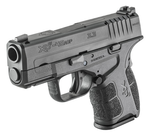 "Springfield XD-S Mod.2, 45 ACP, 3.3"" Barrel, tritium front sight, 5/6rd, USED"