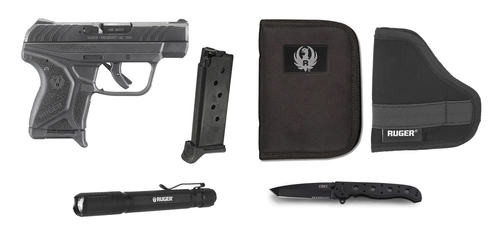"Ruger LCP-II EDC Value Package 380acp 2.75"" Barrel Zippered Case, Holster, Flashlight, Knife and Extra Mag"