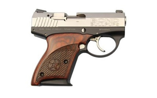 "Bond Arms BullPup9 9mm 3.35"" Barrel Rosewood Grip, SS Slide, 7rd Mag"