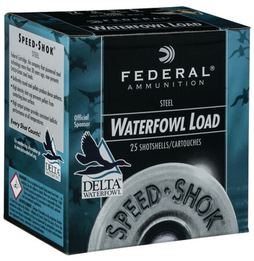 "Federal Speed-Shok 12 Ga, 3"", 1 1/4oz, 1550 FPS, Steel, 25rd/Box"
