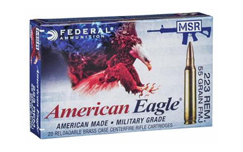 Federal American Eagle 223 Rem Military Grade 55gr, FMJ, 20rd Box