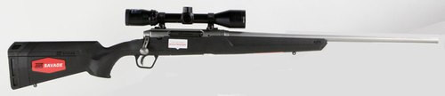 """Savage Axis II XP 22-250 Remington, With 3X9X40 Scope, 22"""" Barrel, Stainless Steel,,  Synthetic, Black,  4 rd"""
