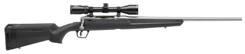 "Savage Axis II XP Package 308 Win, 3X9X40 Scope, 22"" Barrel, Stainless Steel, 4rd"