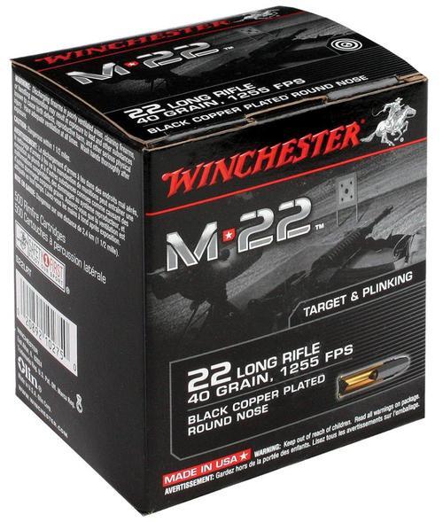 Winchester M22 .22LR 40gr, Lead Round Nose Black, 1000rd/Bulk Box