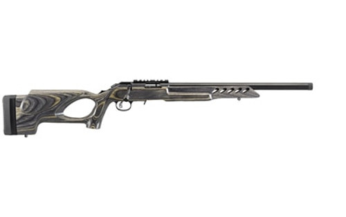 "Ruger American Rimfire Target 22LR 18"" Threaded Target Barrel,Thumbhole Stock,10Rd Mag, Picatinny Scope Base"