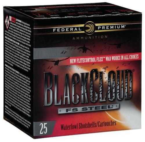 "Federal BlackCloud 12 Ga, 3"", 1-1/8oz, 4 Shot, 25rd/Box"
