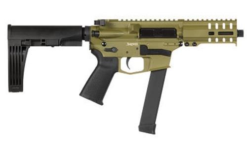 "CMMG MKGS Banshee Pistol, 9mm, 5"" Barrel Bazooka Green Cerakote, Pistol Brace, 33rd Mag"