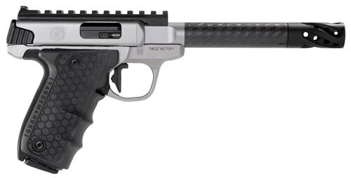 "Smith & Wesson SW22 Performance Center Victory Target 22LR, Single 6"" Carbon Fiber, Black Polymer Grip Stainless Steel, 10rd"