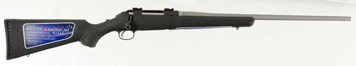 "Ruger American Standard Bolt 22-250 Rem, 22"" Barrel, Synthetic Black Stock, 4rd"