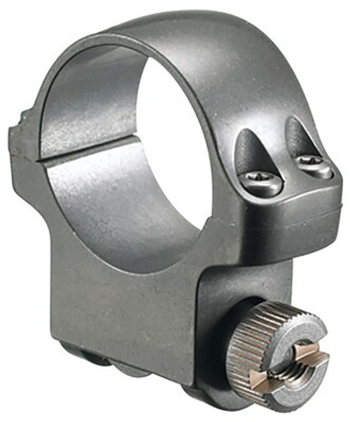 Ruger 30mm Medium Ring, Clam Pack Single Ring, Target Gray Stainless