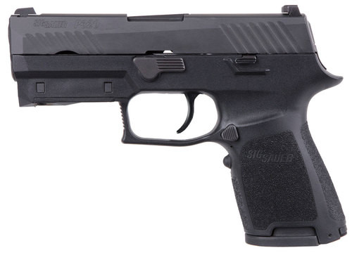 "Sig P320 Compact 9mm Double, 3.9"", Black, Lima320 Green Laser Grip, NS, Black SS Slide, 15rd"