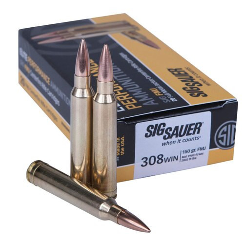 Sig Elite 308 Win 150gr, Full Metal Jacket, 20rd Box