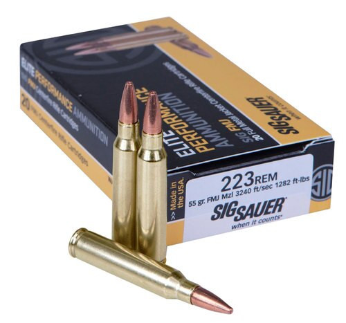 Sig Elite 223 55gr, Full Metal Jacket, 20rd Box