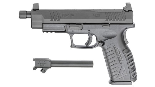 "Springfield XDM OSP (Optical Sight Pistol), Full Size, 9MM, 5.3"" Threaded Barrel, 2x19Rd, 2 Mags 4.5"" Non-Threaded Barrel Included"