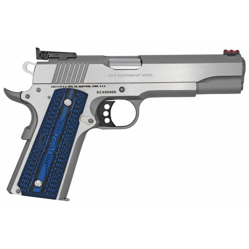 "Colt Gold Cup Lite 1911 Full Size 9MM, 5"" Barrel, Brushed SS Finish, G10 Grips, 9Rd Mag"
