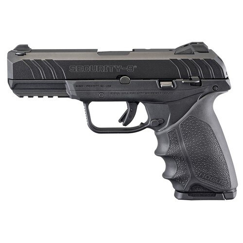 "Ruger Security 9, 9mm, 4"" Barrel, 10rd,  Black Hogue HandALL Rubber Grip"