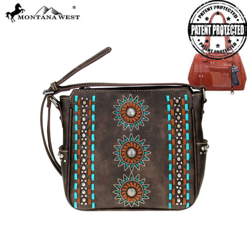 Montana West Concho Collection Concealed Carry Crossbody Bag