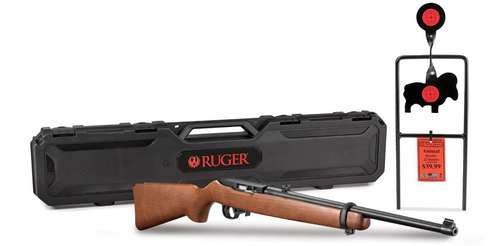 Ruger 10/22 Carbine, .22 LR, Spinner Target and Hard Case