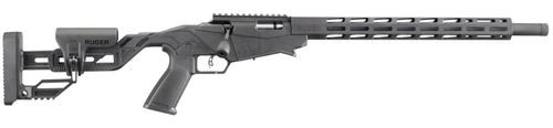"Ruger Precision Rimfire .17 HMR, 18"" Barrel Synthetic Adjustable Black Stock, 9 Rd Mag"