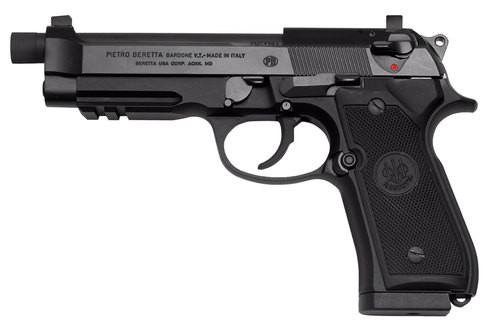 "Beretta 92A1 9mm, 4.9"", Suppressor Ready, Threaded Barrel and Suppressor Height Sights, 17rd"