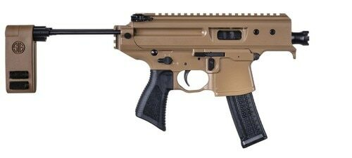 "Sig MPX 9mm Copperhead Pistol, 3.5"" Barrel, 20rd Mag"