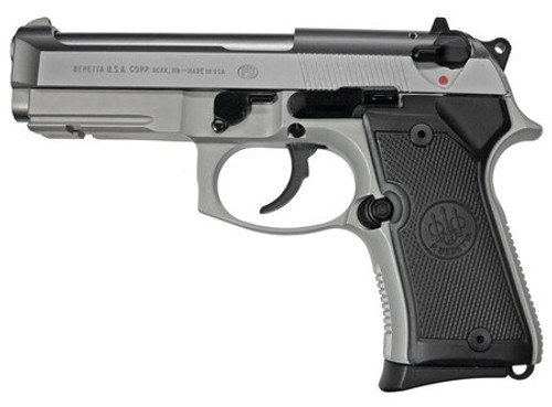 Beretta Model 92FS Compact Inox 9MM 4.29 Barrel SS Finish 13 Rnd Mag