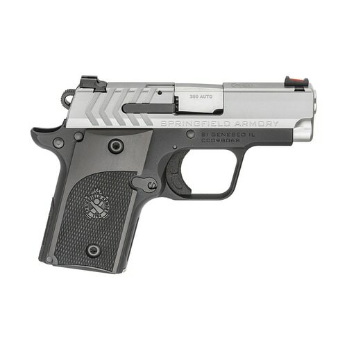 "Springfield 911 Alpha 1911 Micro Compact, 380ACP, 2.7"" Barrel, SS Slide, Fiber-optic Front Sight, 6rd Mag"