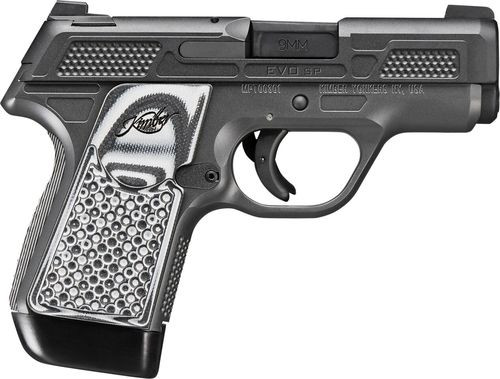 "Kimber EVO SP CS Custom Shop 9mm, 3"" Barrel, Tritium Night Sights, Striker Fired, Gray-Black G10 Grips, Stiplex, 7rd Mag"