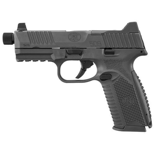"""FN 509 Tactical Double 9mm, 4.5"""" Barrel, Black Grip/Frame/Slide, 17rd"""