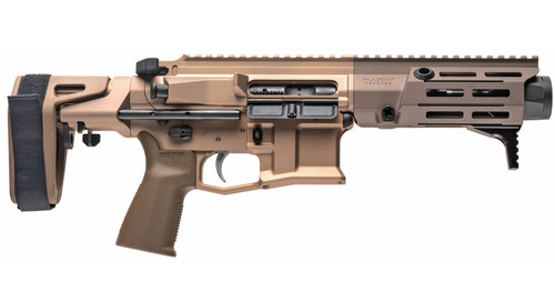 "Maxim PDX AR-15 Pistol 7.62x39, 5.5"" Barrel, Hate Brake, Flat Dark Earth, PDW Brace, 20rd Mag"