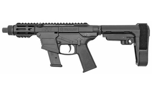 "Fightlite MXR AR-15 Pistol 9mm, Glock Mags, 5"" Barrel, Poly Frame, SBA3 Pistol Brace, M-Lok Forend, 17rd Glock Mag"