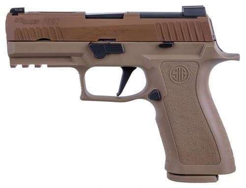"SiG P320 X-Carry Coyote 9mm, 3.9"" Barrel, XRay3 Nightsights, Optics Ready, 2x17rd Mags"