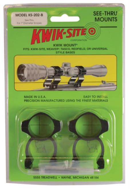 Kwik Site See-Thru For Weaver Bases 1 Inch Matte Black